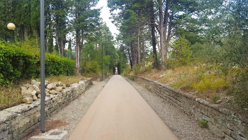 Pedestrian/cycle lane – University of Arezzo – Arezzo