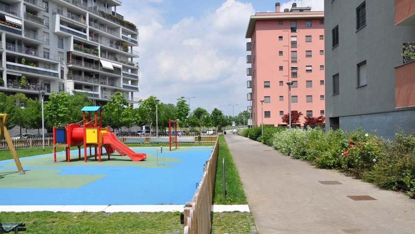 Footpaths in the Santa Giulia district – Milan