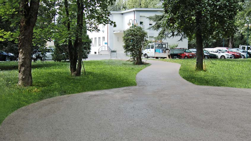 Paths in hospital grounds (USL9) in Parco del Sile – Treviso