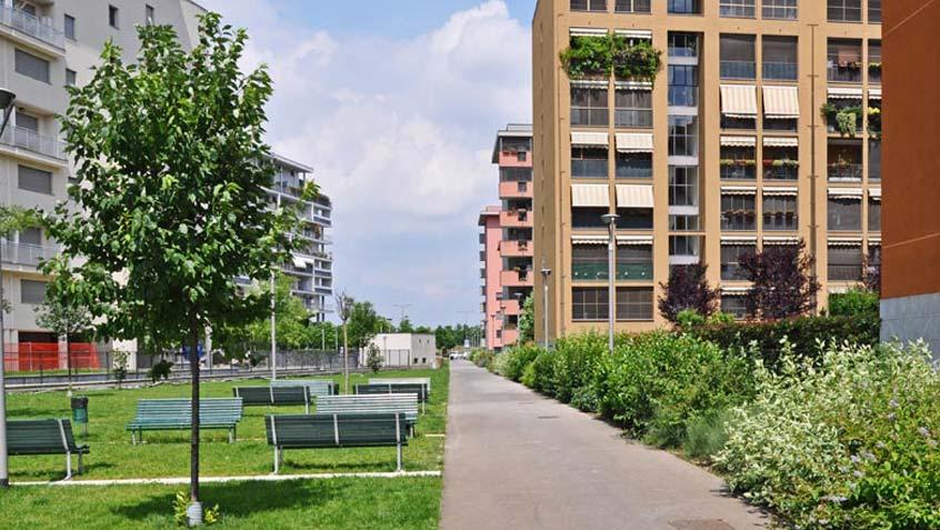 Vialetti nel Quartiere Santa Giulia – Milano
